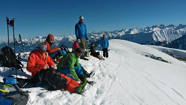 Skitourenwochenende im Kleinwalsertal Ski Club Benningen