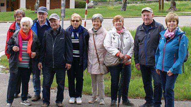 Wandergruppe Tag der offenen Tür auf der Skihütte des SCB in Todtnau